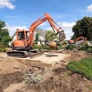 Moving a Few Plants & Heavy Machinery in the Garden (Gazebo Pad Removal)! 😱🌿🥴