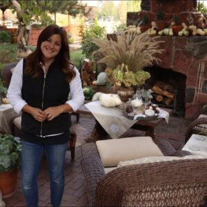 Decorating our Outdoor Fireplace for Fall! 🍂🍁// Garden Answer
