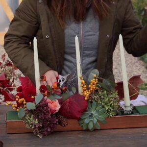 A Thanksgiving Centerpiece from your Garden