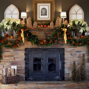 It Took Me Three Days to Decorate My Mantel... 😆🤦�♀�🥰🎄// Garden Answer