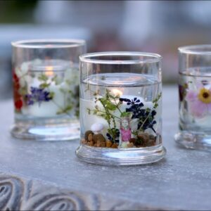 DIY Dried Flower Resin Candles 🌿🕯 // Garden Answer
