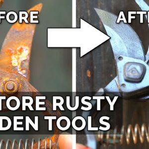 Easiest Way to Restore Rusty Garden Tools