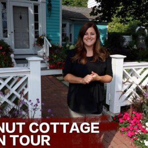 Enjoy a tour of the sweet Chestnut Cottage on Mackinac Island!