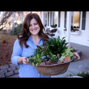 Houseplant Garden w/ a Water Feature! 🌿💚// Garden Answer