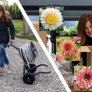 Unboxing Dahlias and Heavy Duty Hose Carts! 🌸💚 // Garden Answer