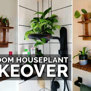 Houseplant Makeover for a Small Bathroom!