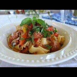 Spicy Italian Drunken Noodles