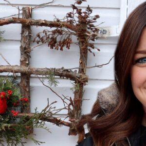 Square Winter Wreath DIY