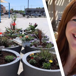 Planting 10 Containers at Our City's Splash Pad! 💙💦 // Garden Answer