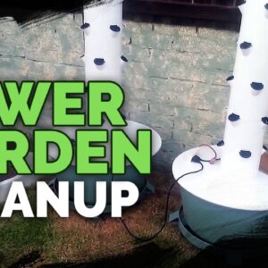 Tower Garden: Cleanup and Post Harvest