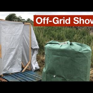 Off-Grid Shower Heated by Compost