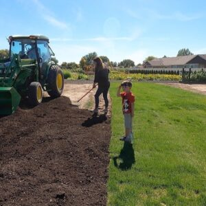 Spreading More Compost & Planting the Barn Pots for Fall! 🍁🙌 // Garden Answer