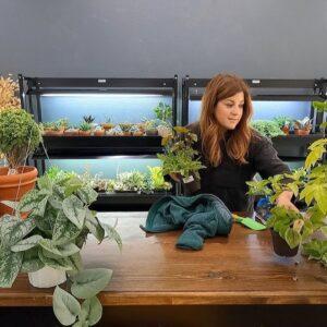 Unorganized Studio Tour & Potting Up New Houseplants! 🤪🌿😁 // Garden Answer